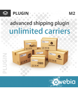 Plugin Unlimited Carriers pour Advanced Shipping pour Magento 2